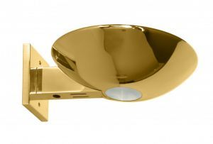 Caspio Indirect Halogen Sconce Polished Brass Wall Sconce