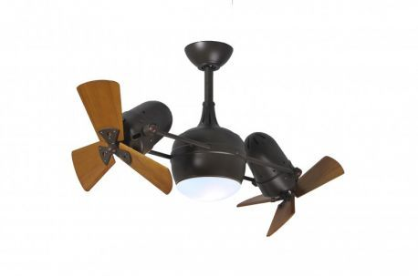 Dagny With Light Kit-Textured Bronze-Wood Blades Ceiling Fan