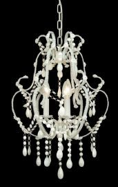 Et03ww 3 Light Clear Crystal Chandelier