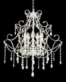 Et05ww 10 Light All Pink Crystal Chandelier