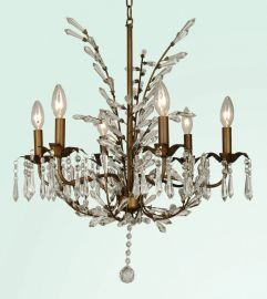 Et101 6 Light Clear Crystal Ceiling Fixture