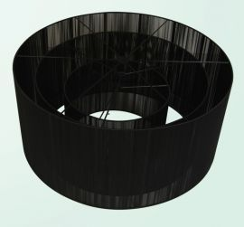 Et200a Black Silk String Shade Only To Be Retrofit