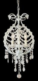 Et62c 3 Light White Frame Clear Crystal Ceiling Light