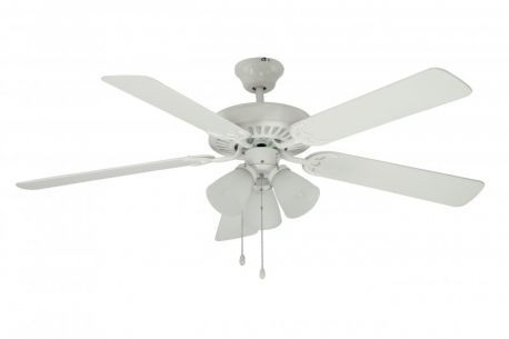 F-1005 WH 3-Light Ceiling Fan, White Finish