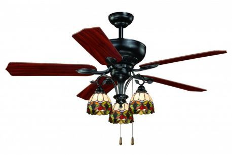 "French Country 52"" Ceiling Fan Oil Shale"
