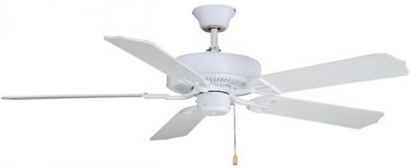 Aire Decor Matte White Ceiling Fan With White Blades