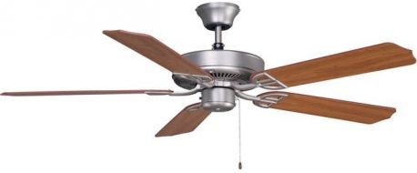Aire Decor Satin Nickel Ceiling Fan With Cherry/walnut Blades