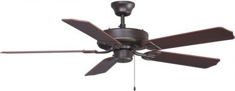 Aire Decor Oil-rubbed Bronze Ceiling Fan, Composite Walnut Finish Blades