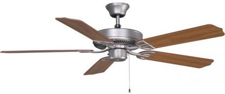 Aire Decor Satin Nickel Ceiling Fan, Composite Cherry Finish Blades