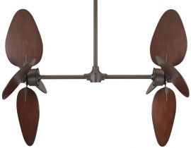 FP240OB-EP30OB-B5080CP Palisade Ceiling Fan, Cairo Purple Wide Oval Wood Blades