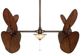"Palisade Rust Ceiling Fan, 22"" Antique Blades, 3-light And Glass Bowl"