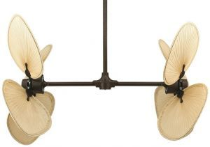 "Palisade Rust Ceiling Fan, 22"" Natural Palm Leaf Blades"