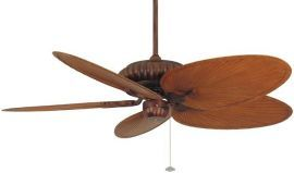 "FP4320TS1-BPP4BR Belleria Tortoise Shell Ceiling Fan w/ 22"" Brown/Red Narrow Oval Composite Palm Leaf Blades"