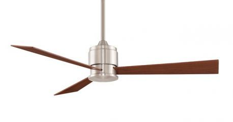 Zonix Brush Nickel Ceiling Fan With Reversible Cherry/walnut Blades