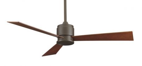 Zonix Oil-rubbed Bronze Ceiling Fan With Reversible Cherry/walnut Wood Blades