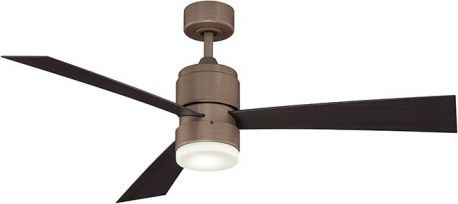 Zonix Dark Copper Penny Ceiling Fan, Dark Walnut Blades, 14w Led