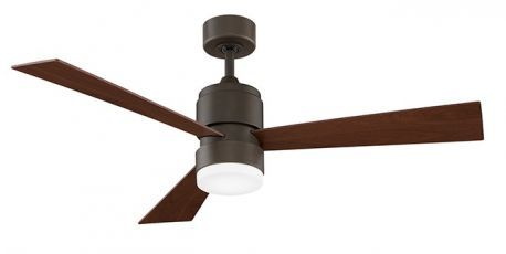 Zonix Oil-rubbed Bronze Ceiling Fan, Walnut Blades, 14w Led