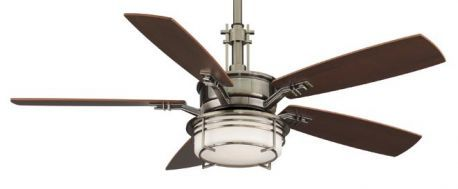 Andover Pewter Ceiling Fan, Cherry/walnut Blades And Opal Glass