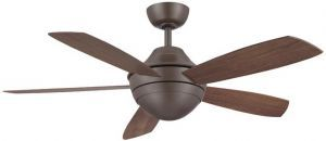 Celano Oil-rubbed Bronze Ceiling Fan, Opal Frosted Glass And Walnut Finish Wood Blades
