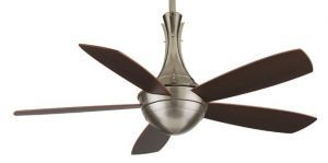 Celano Pewter Ceiling Fan, Opal Frosted Glass And Walnut Finish Wood Blades