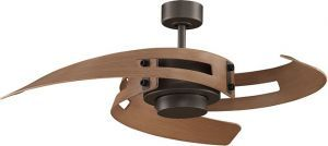 Avaston Oil-rubbed Bronze Ceiling Fan, Cherry Blades