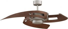 Avaston Satin Nickel Ceiling Fan, Cherry Blades