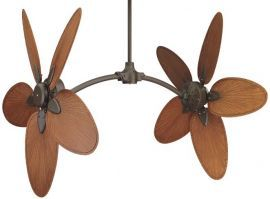 FP7000OB-CABPP4BR Caruso Oil-rubbed Bronze Ceiling Fan w/ 22'' Composite Palm Narrow Oval Brown/Red Blades