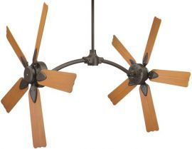 "FP7000OB-CABPW10CY Caruso Oil-rubbed Bronze Ceiling Fan w/ 20"" Composite Cherry Blades"