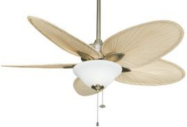 Windpointe Antique Brass Ceiling Fan With 3-light Kit