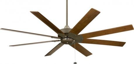Levon Oil Rubbed Bronze Ceiling Fan With Walnut Finish Wood Blade, 220v