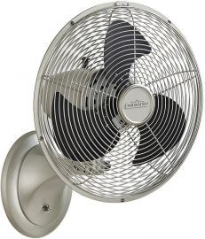 Portbrook Satin Nickel Portable Fan, Black Blades, 220v