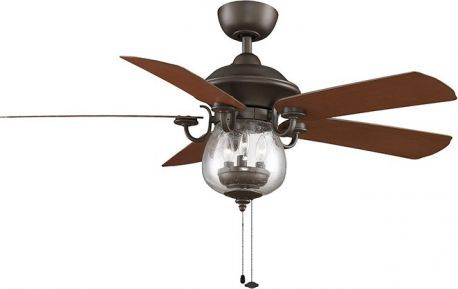Crestford Oil-rubbed Bronze Ceiling Fan With Reversible Cherry/walnut All-weather Composite Blades