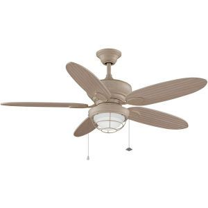 Kaya Washed Maple Ceiling Fan, Washed Maple Blades, Opal Frosted Glass