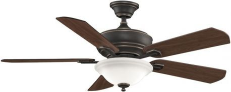Camhaven Bronze Accent Ceiling Fan With Cherry/walnut Blades