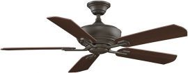 Camhaven Oil Rubbed Bronze Ceiling Fan With Cherry/walnut Wood Blades