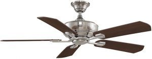 Camhaven Pewter Ceiling Fan With Cherry/walnut Blades