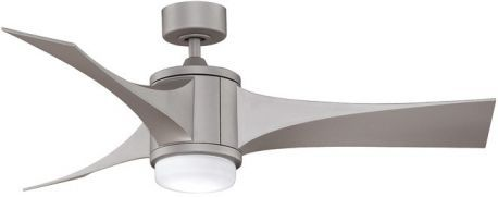 Jennix Metro Gray Ceiling Fan With Composite Blades And Opal Glass