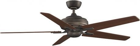"Keistone Bronze Accent Ceiling Fan Without Light, 60"" Cherry/walnut Blades"