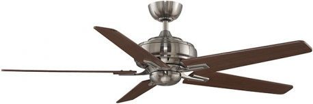 "Keistone Pewter Ceiling Fan Without Light, 60"" Cherry/walnut Blades"
