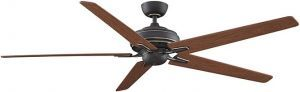 "Keistone Bronze Accent Ceiling Fan Without Light, 72"" Cherry/walnut Blades"