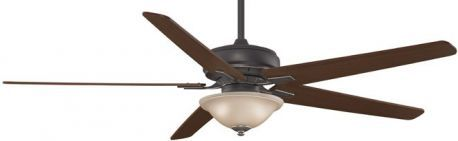 "Keistone Bronze Accent Ceiling Fan With Light, 72"" Cherry/walnut Blades"