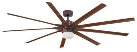 Odyn Oil-rubbed Bronze Ceiling Fan, Walnut Blades And Opal Frosted Glass