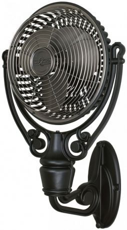 Old Havana Pewter Black Wall Fan