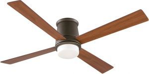 Inlet Oil-rubbed-bronze Ceiling Fan, Cherry/walnut Blades And Opal Frosted Glass
