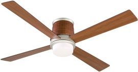 FPS7880SN-HA7880CY Inlet Satin Nickel Ceiling Fan w/ Opal Frosted Glass and Cherry Woven Housing