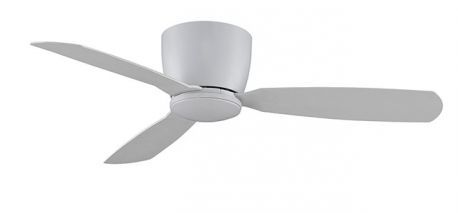 Embrace Matt White Ceiling Fan, Opal Frosted Glass And Matte White Blades