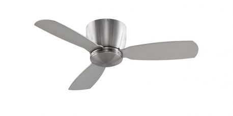 "Embrace 44"" Brushed Nickel Ceiling Fan, Opal Frosted Glass And Brushed Nickel Blades"