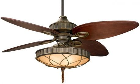 Bayhill Venetian Bronze Ceiling Fan With Light Kit And Decorative Filigree, 220v