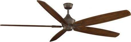 "The Big Island Oil Rubbed Bronze Ceiling Fan, 36"" Large Carved Cherry Wood Blade"
