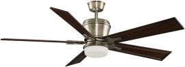 "Sandella Antique Brass Ceiling Fan, 26"" Dark Cherry Carved Blades"